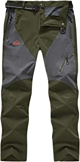 Sponsored Ad - Gopune Men's Outdoor Hiking Pants Quick Dry Lightweight Breathable Mountian Running Jogger Pants Zipper Poc...