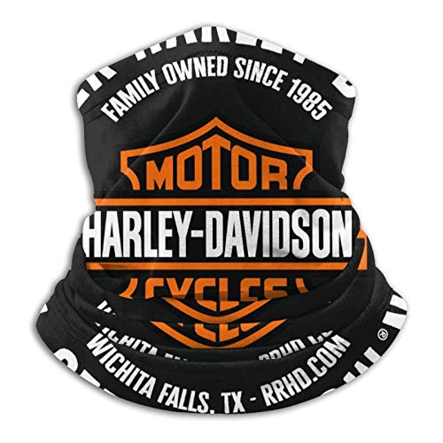 Harley Davidson Unisex Multifunzionale Antipolvere Microfibra Collo Ghetta, Passamontagna, Bandane, Scaldacollo Sciarpa Per Freddo Sport All'aperto