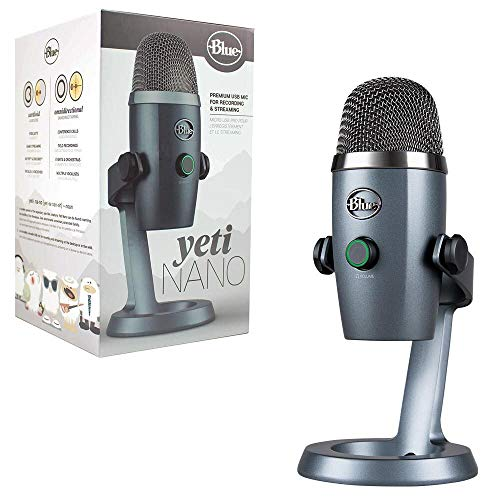 Blue Yeti Nano Premium USB Mic for Recording and Streaming - Shadow...