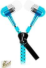 AIK in-Ear Zip Zipper Stereo Headphones 【3.5M】 Earphone Earbud for Mobile Phones Purple (Blue)