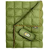 Hiker Hunger Outfitters | Extra Large Double Insulated Outdoor Camping Blanket | Easy to Pack, Waterproof, Durable, Lightweight & Warm | Best for Hiking, Backpacking, Stadium Events, Picnic Use Green