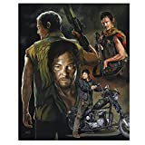 walking dead drawing poster - (11.8x15.8inch)5D DIY Diamond Painting Walking Dead Character Poster 3D Diamond Embroidery Cross Embroidery Mosaic Home Decoration Holiday Gift