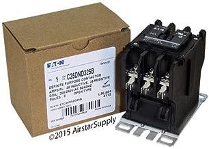 010220 Eaton C25dnd325b 25a, 3p, Definite Purpose Contactor 25 Amp, 3-Pole, Definite Purpose Contactor, 600v Rated, Screw/Pressure Plate Terminals, 208-240v Ac Coil. Series: D1.
