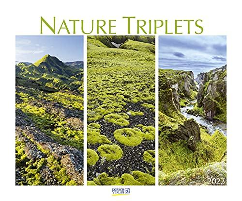 Nature Triplets 2022: Wandkalender groß. Fotokunst-Kalender mit ausgewählten Bildreihen aus der Natur. Großformat: 55 x 45,5 cm.