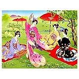 J-Love Kit Pintura Diamante 5D Hecho a Mano Bricolaje Cuatro Mujeres Antiguas Imagen Bordado Taladro Completo decoración del hogar Arte Pared