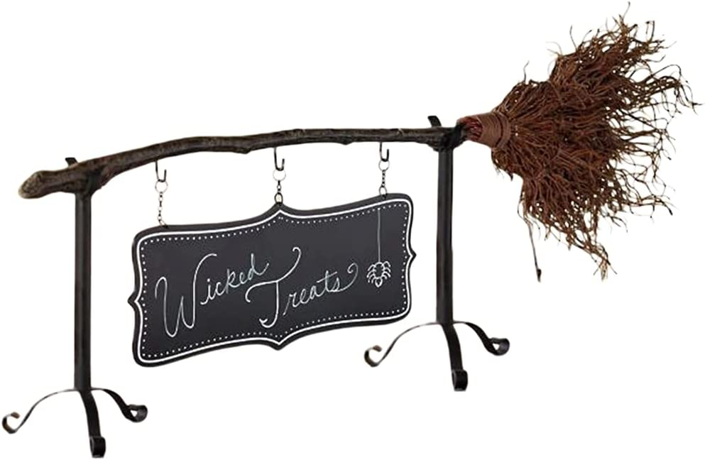 JIUYECAO Halloween Broom Snack Washington Mall Listing Set Rack Bowl OFFicial mail order