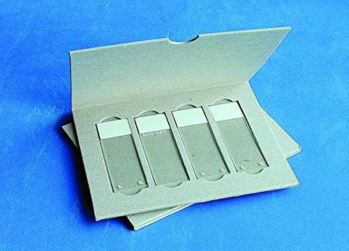 4 Microscope Slide Mailer, Solid Cardboard, 20/PK
