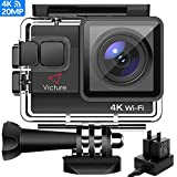 Victure AC800 Cámara Deportiva WiFi 4k Ultra HD 20MP Action Camera Acuatica de...