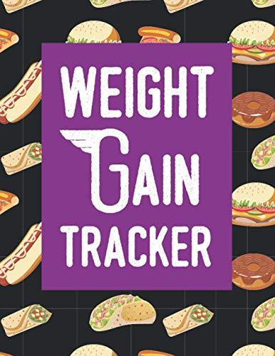 Weight Gain Tracker: weight gain daily activity tracker, mass gain counter logbook