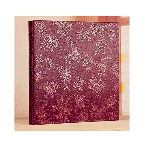 mozhixue Cubierta de Cuero Album de Fotos 4x6 400/800 Fotos Álbum de Fotos de Gran Capacidad para Día de San Valentín Presente Memoria de Boda Álbum,Wine Red,800 Sheets