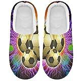 Linomo Galaxy Soccer - Zapatillas deportivas para mujer, zapatos de casa, zapatos de interior, multicolor, 37/38 EU
