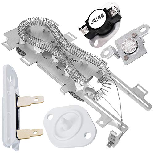 Price comparison product image 8544771 Heating Element & 279973 Thermal Cut Off Kit & 3392519 Thermal Fuse & 8577274 Thermistor by PartsBroz - Compatible with Whirlpool Dryers - Replaces AP6013115,  8544771,  PS11746337,  W10836011