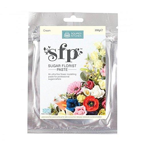 Squires Kitchen SFP Arte Azúcar Pasta de Floristería Flores Flores y Hojas Crema 200g