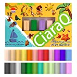 CiaraQ 24-Color Small Block Polymer Clay Starter kit, Oven Bake Clay, Non-Toxic DIY Molding Clay, Great Gift for Kids, Beginners. (0.42 oz/Block )