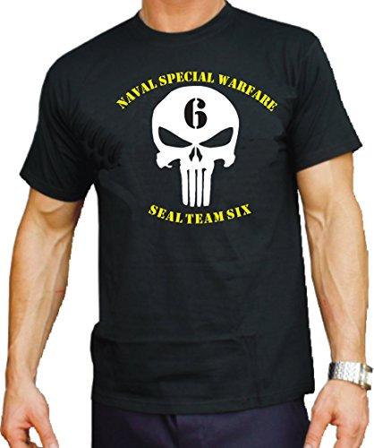 Feuer1 T-shirt noir US Navy Seal – Team Six 3XL
