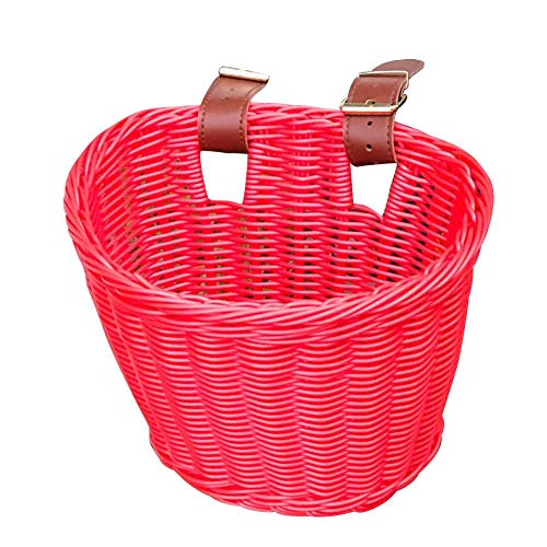 Childrens Wicker Bike Basket,Bike Basket Front Large ,Bike Basket Kids Adult Handmade Bicycle Baskets for Boys and Girls Bicycles