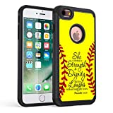 iPhone 6s Case,iPhone 6 Case,Rossy Softball Christian Bible Verse Proverbs 31:25 Quotes Shock-Absorption Hybrid Dual Layer Armor Defender Protective Case Cove for Apple iPhone 6/6s 4.7inch