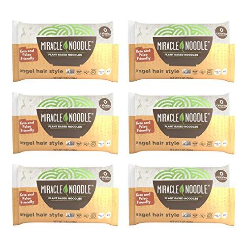 Miracle Noodle Angel Hair Pasta - Plant Based Shirataki Noodles, Keto, Vegan, Gluten-Free, Low Carb,...