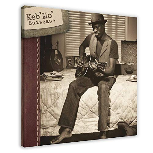 Keb' Mo' Album Cover - Suitcase Canvas Poster Bedroom Decor Sports Landscape Office Room Decor Gift 28×28inch(70×70cm) Frame-style1