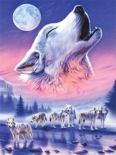 QRKJ Pussel 1000 bitar för vuxna Wolf Family dekorationer, unik födelsedagspresent lämplig för ungdomar och vuxna