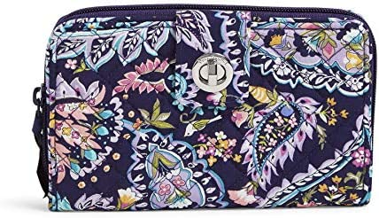 Vera Bradley womens Signature Cotton Turnlock With Rfid Protection Wallet French Paisley One product image