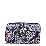 Vera Bradley womens Signature Cotton Turnlock With Rfid Protection Wallet, French Paisley, One Size US