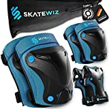 SKATEWIZ Protect-1 - Tamaño S en Azul - monopatín eléctrico - Rodillo de los Hombres Adultos - monopatín Deportivo - protección de Rodillos de niña Infantil