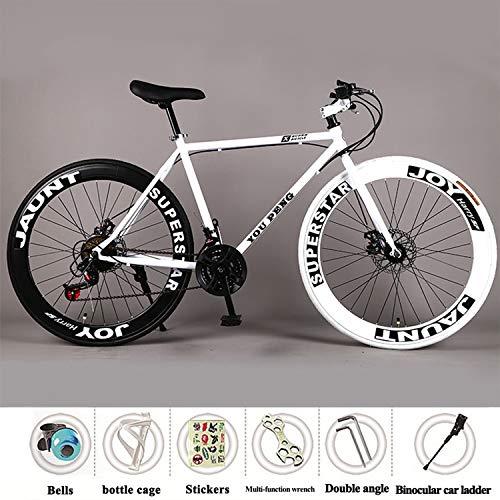 YI'HUI - Bicicleta de carreras de carbono para hombre, fibra de carbono, 21 velocidades