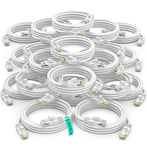 Ethernet Cable 6 ft CAT6 High Speed Internet Network LAN Patch Cable Cord - 20 Pack...