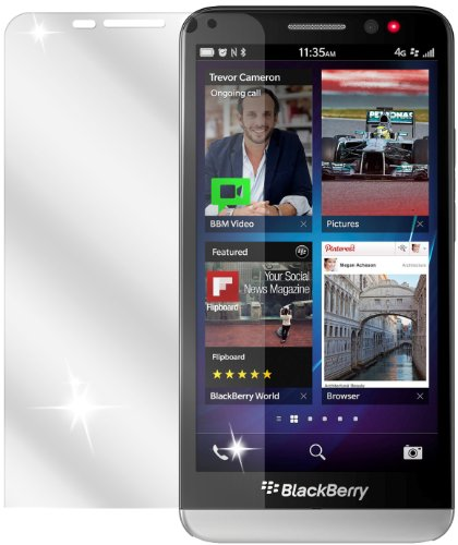 dipos I 2X Schutzfolie klar kompatibel mit BlackBerry Z30 Folie Bildschirmschutzfolie