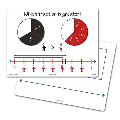 EAI Education Fraction Fluency Flexible Dry-Erase Boards - Set of 10