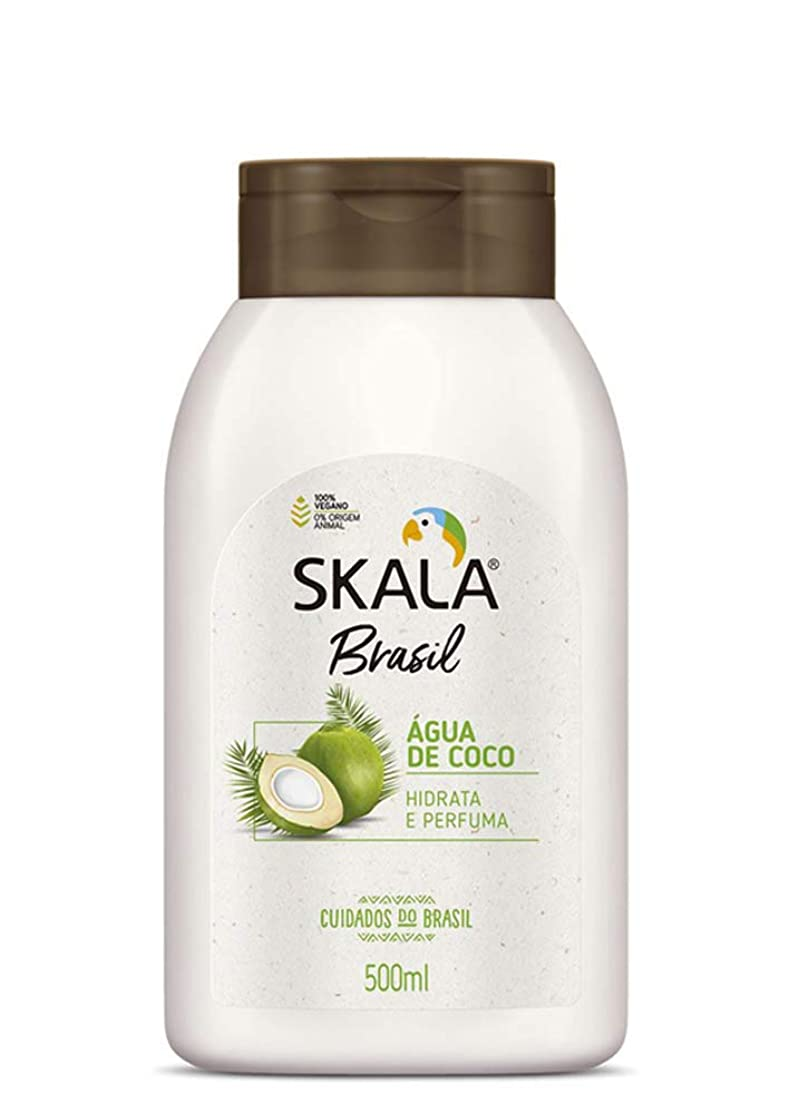 ラッチ鬼ごっこ明らかにするSkala Brasil スカラブラジル 保湿ボディクリーム?ココナッツウォーター 500ml