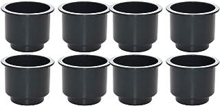 HomeDecTime 8pcs Schwarzer Plastik Recliner Griffe Cup Holder Insert Für Car Rv Poker Tisch