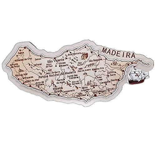 3D Kaart Vorm Madeira Portugal Koelkast Magneet Reizen Souvenir Geschenken Collectie Thuis keuken Decoratie Magnetische Sticker Madeira Koelkast Magneet