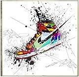 REDWPQ Cuadro de Arte de Pared Cartel Graffiti Zapatillas de Deporte Zapatos Moda Arte Pintura Lienzo impresión Cartel Pared decoración del hogar 50 * 50 cm sin Marco