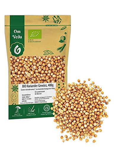 BIO Koriander Samen ganz Koriandersamen Koriandersaat Körner | Organic Bio-zertifiziert DE-ÖKO-039 | Coriander Dhania | Für Gesunde Küche und Tee