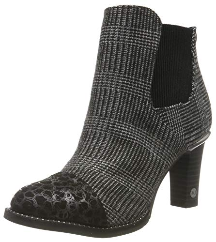 MUSTANG Damen 1335-503-92 Chelsea Boots, Schwarz (Schwarz/Grau 92), 40 EU