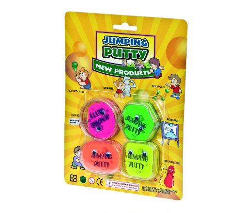 Glow2B Spielwaren 620452 - Springende Knete in der Dose 4 Stück/Karton