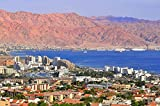 View Of Eilat City And Amram Pillars Israel Asia Home Decor