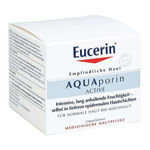 Eucerin AQUAporin ACTIVE normale Haut bis Mischhaut Creme, 50 ml Creme