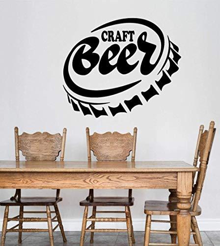 Vinyl muursticker wanddecoratie DIY sticker ambachtelijke bier alcoholdoekje fles cap bar restaurant hotelkamer behang 43x50 cm