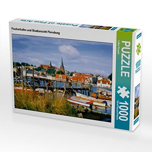 CALVENDO Puzzle Fischerhafen & Stadtansicht Flensburg 1000 Teile Lege-Größe 64 x 48 cm Foto-Puzzle Bild von Lothar Reupert