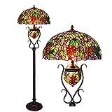 AWCVB Tiffany Madre Y Niño Cofres Lámpara Oval Craftsman Grape Art Lamp