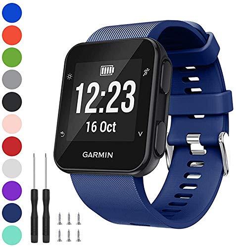 Axcellent Banda Compatible con Garmin Forerunner 35, Correa de Silicona Suave para Reloj con Correa de Repuesto, para Garmin Forerunner 35 Smart Watch, Fit 5.11-9.05 Inch (130mm-230mm) Wrist