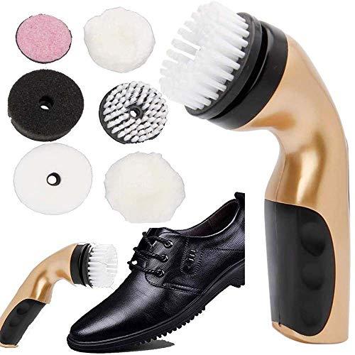 JTKDL Portátil cepillo de zapatos eléctrica limpia pulidora de mano automático eléctrico...