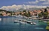Kits de pintura de diamantes para adultos, bricolaje 5D, Croacia Vista del puerto Arte Artesanía Inicio Decoración de la pared Amante Regalo 40x50 Cm