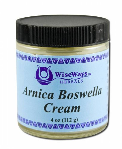Salves for Natural Skin Care Arnica Boswella Cream 4 oz by WiseWays Herbals (English Manual)