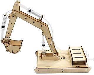 حفارة هيدروليكية DIY تكنولوجيا الطلاب إنتاج صغير لعبة تعليمية علمية نموذج لعبة علمية تجارب علمية بخارية لعبة Gaodpz