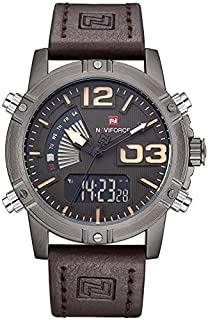 Naviforce 9095 B-CE-D.BN Analog-Digital For Men, Casual Watch