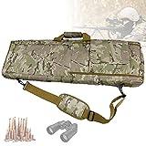 EnweLampi Gepolsterte Waffentasche, Airsoft Tactical Rifle Case mit Externen Magazintaschen, Leicht...